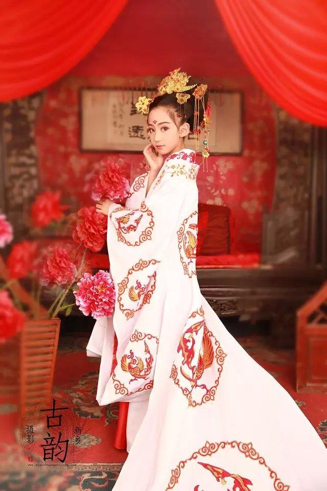 古装婚纱简笔画 公主